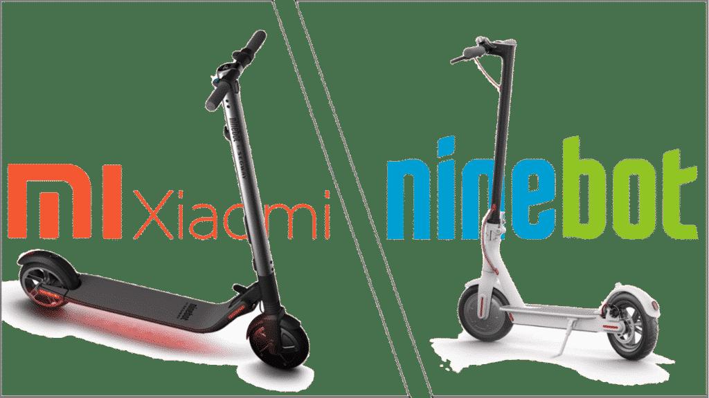 Comparatif-Trottinette-electrique-entre-xiaomi-et-ninebot